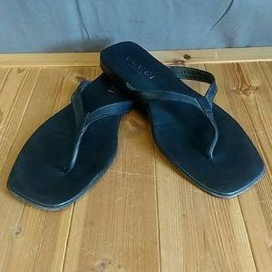 Gucci Shoes - Gucci Sandals black leather Size 11D